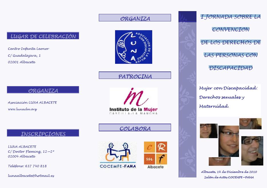 Mujer con Discapacidad:Derechos sexuales yMaternidad. Albacete, 14 de Diciembre de 2010 Salón de Actos COCEMFE—FAMA Descargar PDF
